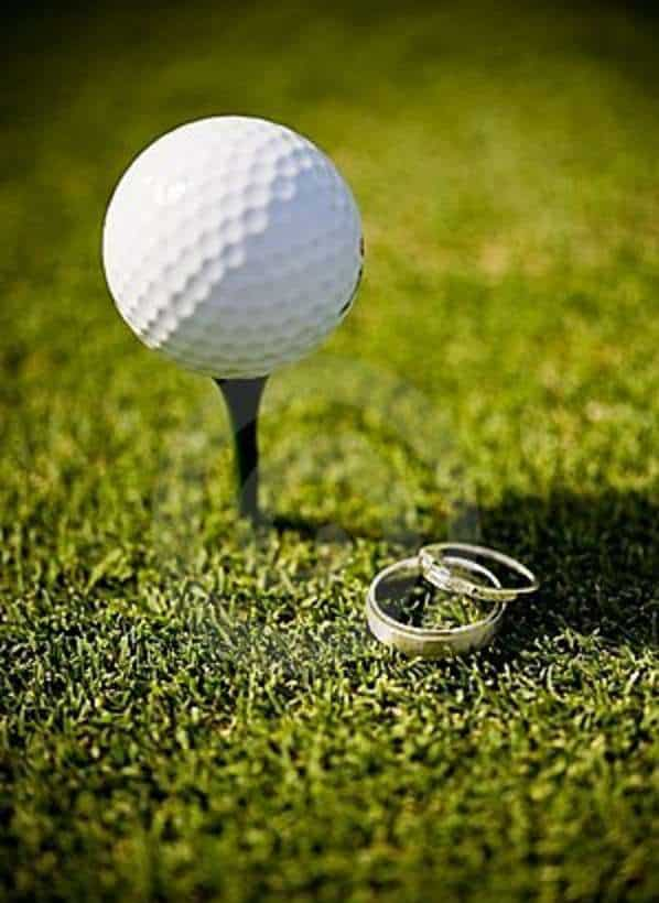 talking about marriage on the golf course