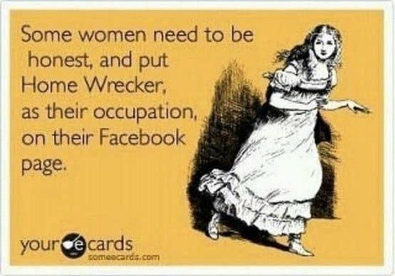 Facebook homewrecker