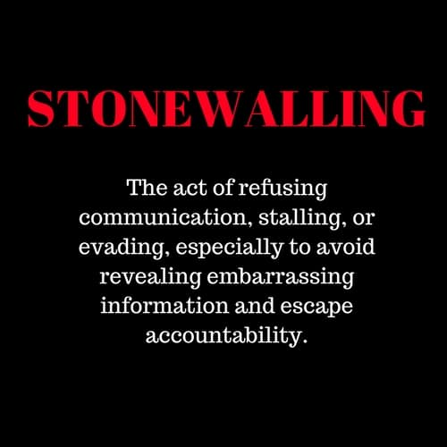 What does stonewalling mean in a relationship