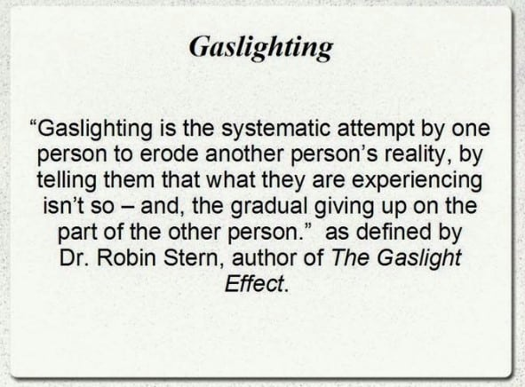 gaslighting and how wayward spouses use it